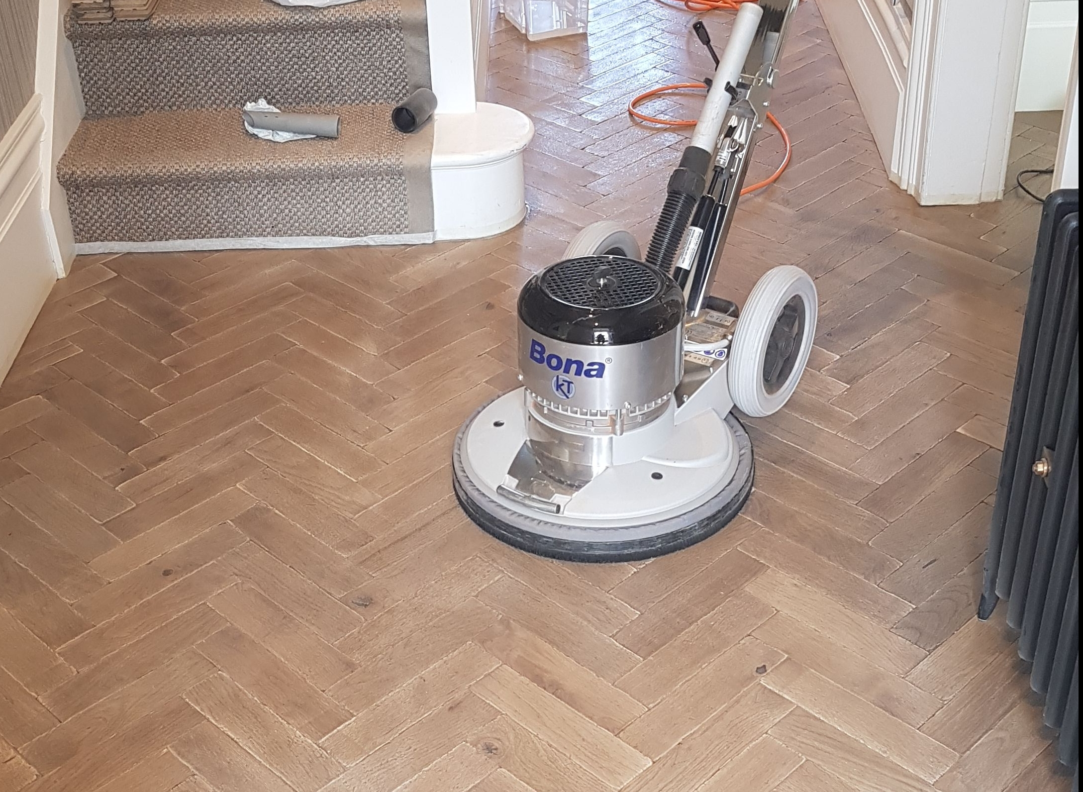 Parquet sanding, staining and sealing in Birmingham